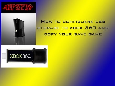 How to configure usb storage to xbox 360 and copy your save game