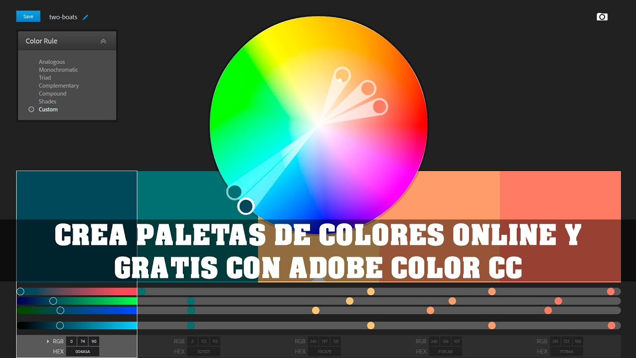 Color adobe online - Create Palettes Online And Free With Adobe Color Cc