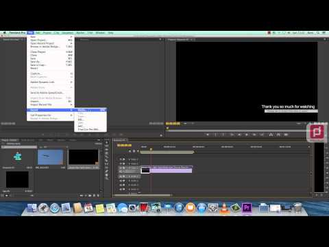 Exporting Alpha Channel or Transparent Video with Premiere Pro