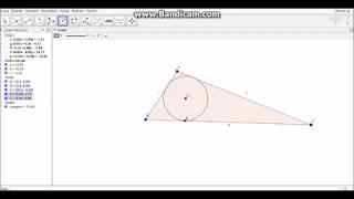 geogebra iç teğet çember ( incircle)