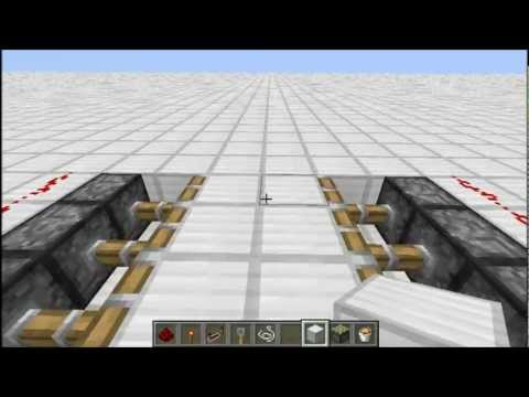 Ловушка на поршнях - Minecraft