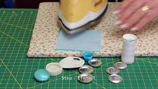 How To: Make a (No-Sew) Covered Button with Fine or Stretchy Fabric