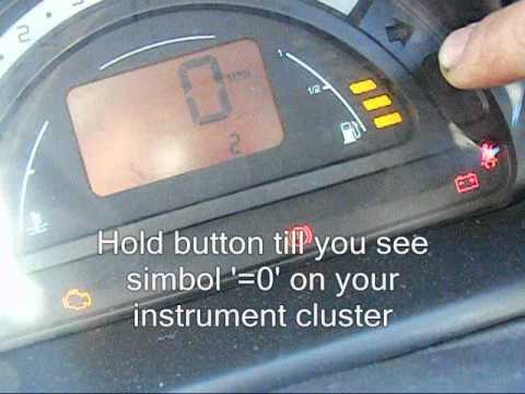 Citroen C2 C3 oil service interval / spanner simbol / light reset wmv