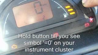 Citroen C2 C3 oil service interval / spanner simbol / light reset.wmv