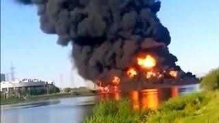 Пожар на Москве-реке: пострадали три человека - 12.08.2015