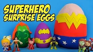 DC Superhero Girls Play-doh Surprise Eggs with Batman Toys & Justice League Toys & Frozen by KidCity
