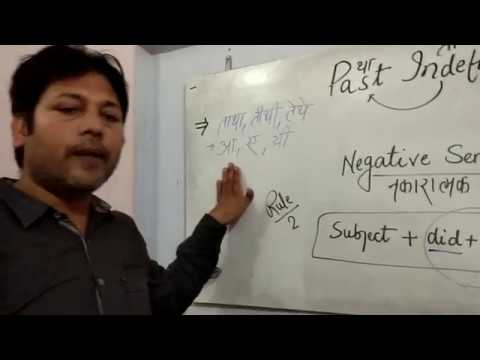 Past Indefinite Negative Sentence By English Guru Niyazuddin Sir