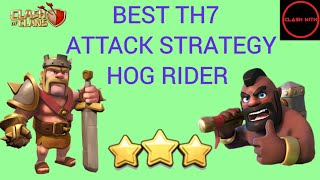 Best TH7 War Attack Strategy - 3 Stars in Clan Wars | Max TH7 | Clash of Clans