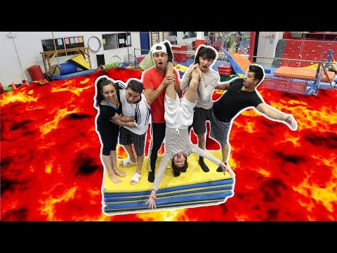 Thumbnail: FLOOR IS LAVA AT GYMNASTICS GYM! (INTENSE)