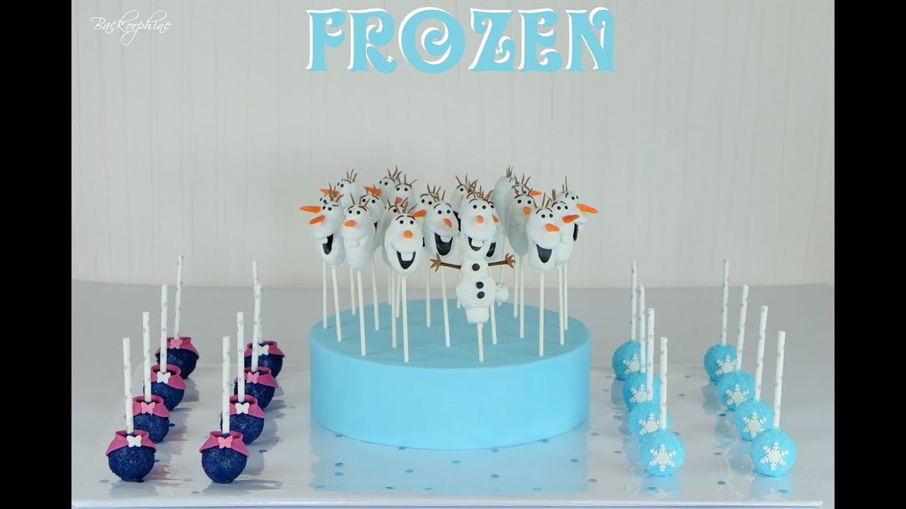 How To Make Olaf Cake Pops