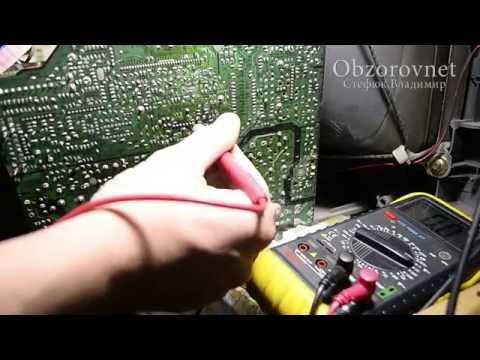 видео: Телевизор samsung кадровая, трещина в плате