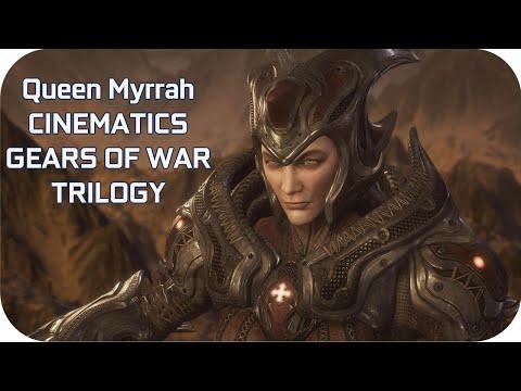 Queen Myrrah Story All Cutscenes In GEARS OF WAR GAMES