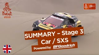 Summary - Car/SxS - Stage 3 (San Juan de Marcona / Arequipa) - Dakar 2019
