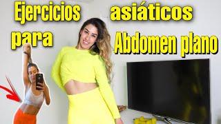 Ejercicios asiáticos para abdomen plano + piernas y gluteos/ Tiktok Challenge viral