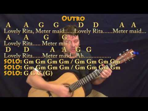 Lovely Rita (The Beatles) Guitar Cover Lesson with Chords/Lyrics - Capo 2nd