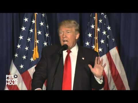 Donald Trump delivers speech on foreign policy plans