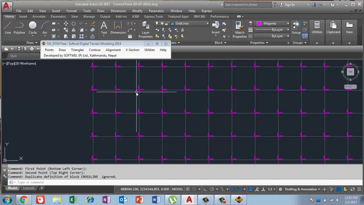 how to get grid in autocad