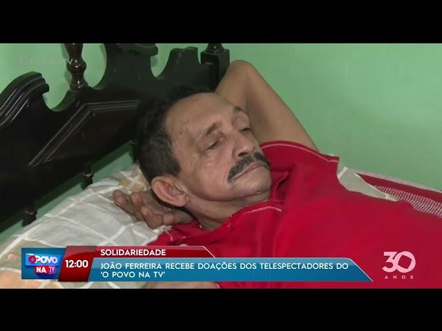 Solidariedade: João Ferreira recebe doações dos telespectadores do programa - O povo na TV