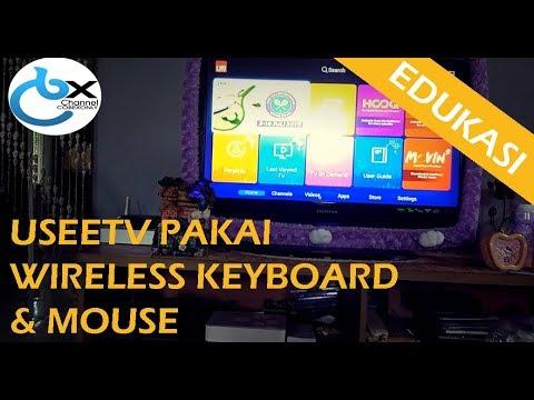 Tips Useetv Stb Hybrid Pakai Wireless Keyboard Mouse Youtube
