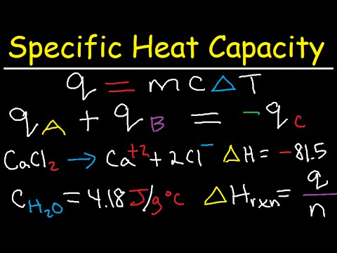 Specific Heat Capacity Problems Calculations Chemistry Tutorial