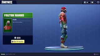 Fortnite Yuletide Ranger Outfit - Uncommon Battle Royale Character for Vbucks