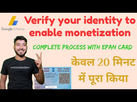 Verify your identity to enable monetization/identity varification successful only 20 minutes