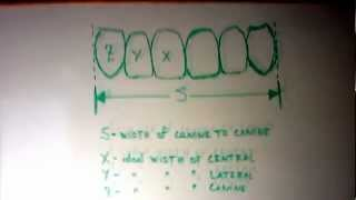 For Dentists - Ideal Width/Length Proportions of anterior teeth based on space available