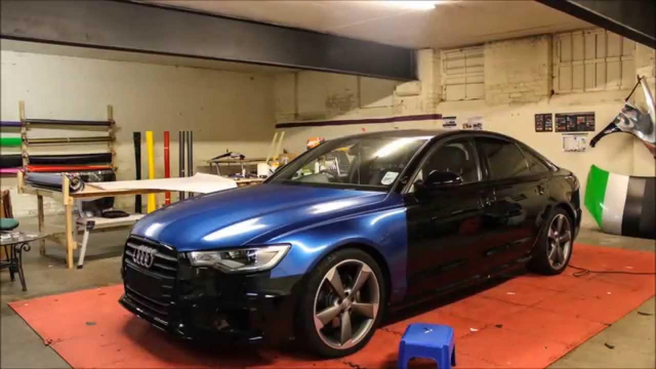 Audi A6 Black Edition Daytona Blue Wrap Youtube