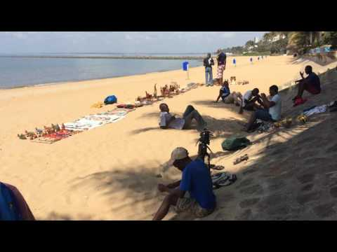 Maputo beach in front of Southern Sun