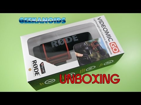 Rode VideoMic GO Unboxing & First Look @rodemics