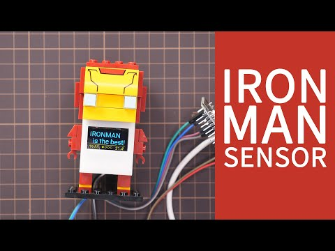 DIY Iron Man brick Clock with Temp and Humidity Sensor, powered by Home  Assistant and ESPHome