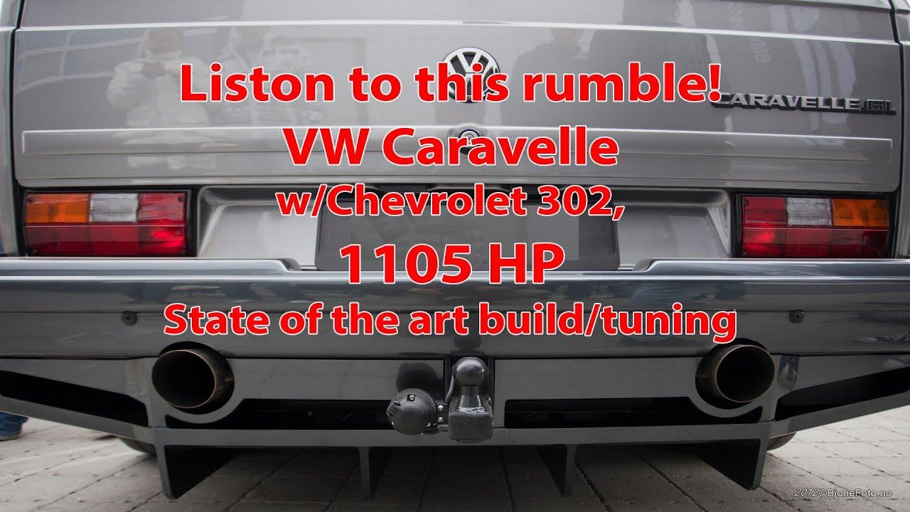 Vw Caravelle V8 Twin Turbo 1 105 Hp 1 311 Nm Youtube