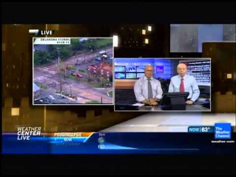 The Weather Channel 4/13/2012 Oklahoma Tornado Coverage Norman Aftermath