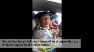 Menegangkan, Istri Anggota TNI ini Melahirkan di Mobil