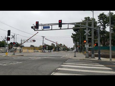 Los Angeles Metro Light Rail, East Century Boulevard Railroad Crossing, Watts CA
