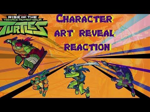 Rise of the Teenage Mutant Ninja Turtles Character Art Reveal Reaction - New TMNT Series