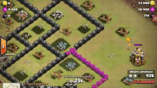 Full dragon 4 sur hdv9 3 étoiles | Clash Of Clans
