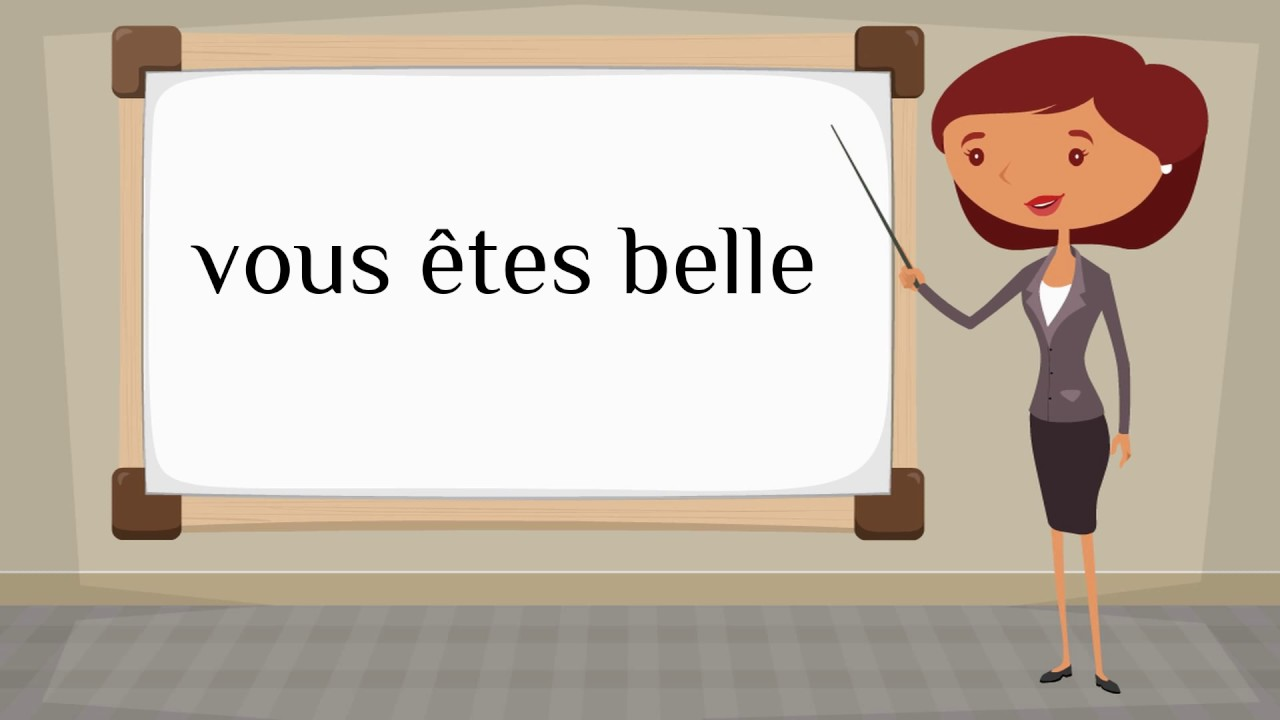 How do you say \'you look beautiful\' in French? - YouTube