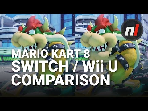 Mario Kart 8 Deluxe Nintendo Switch / Wii U Graphical Comparison