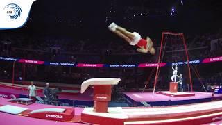 Andrin FREY (SUI) - 2018 Artistic Gymnastics Europeans, junior vault final