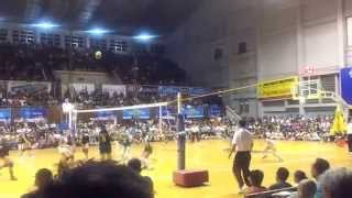 141028 unigames volleyball finals w dlsu nu set 3 5