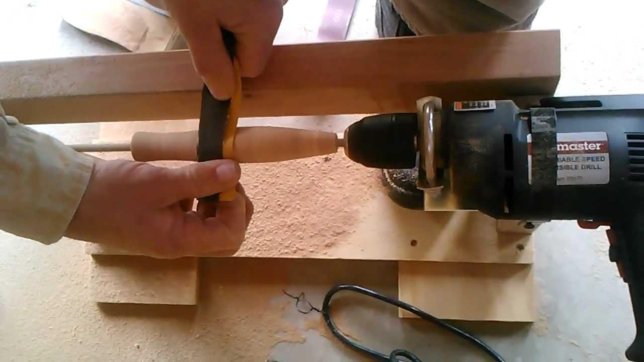 Cork lathe for Fly Rod - YouTube