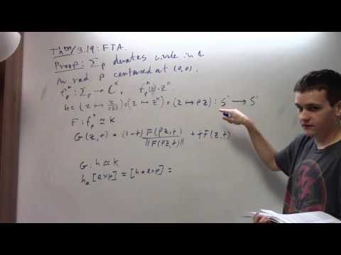 Algebraic Topology: L8, FTA via homotopy, Free Abelian Groups, 9-22-16, part 1