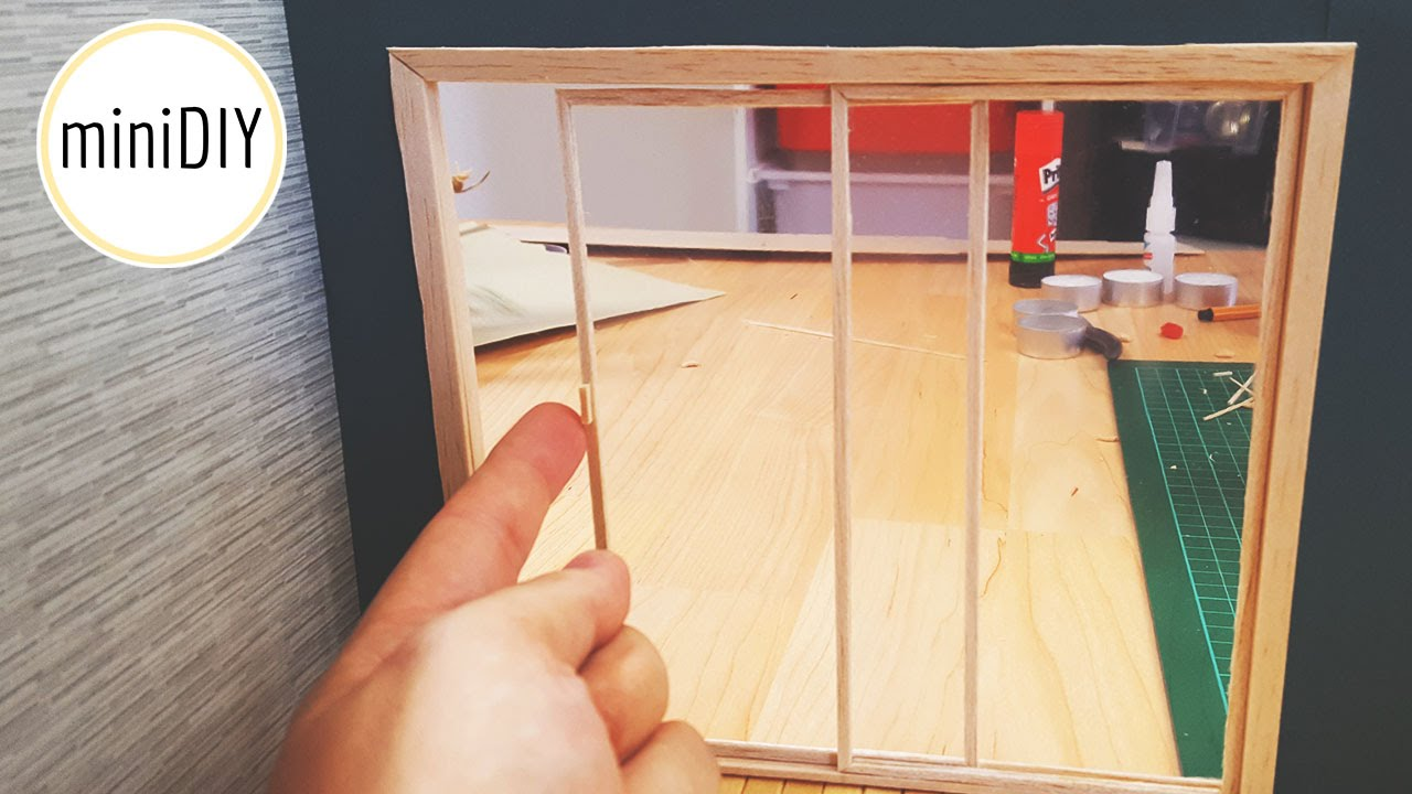 DIY Miniature Terrace Door   MiniDIY   YouTube