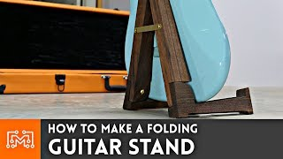 I made a folding guitar stand out of walnut and brass! Thanks to Subscribe to my channel: http://bit.ly/1k8msFr Second Channel: ...