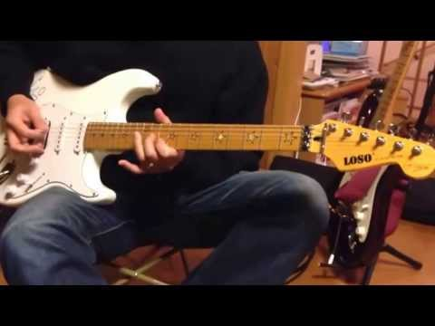Guitar Loso Stratocaster เพลง ซมซาน Solo ท่อนจบ