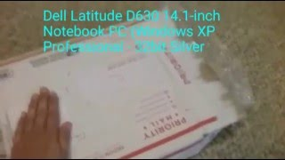 Dell Latitude D630 14.1-inch Notebook PC (AMAZON) UNBOXING!