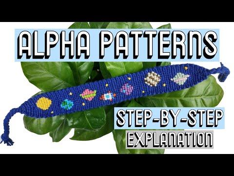 HOW TO READ ALPHA PATTERNS || Friendship Bracelets