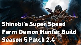 super speed farm demon hunter build patch 2 4   season 5
