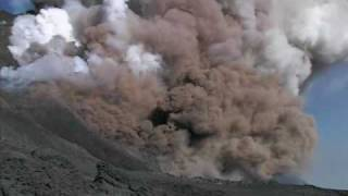 Pyroclastic flows and lava flows at Etna volcano thumbnail